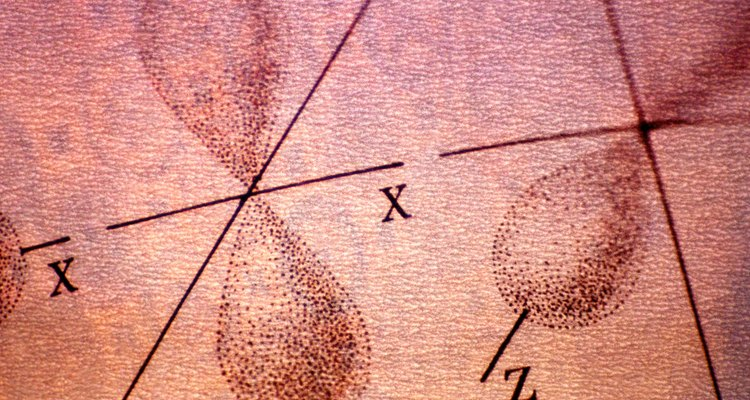 Uma ilustração dos orbitais de elétrons girando em um átomo