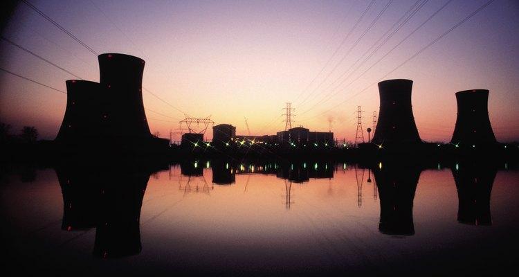 Planta de energía nuclear.
