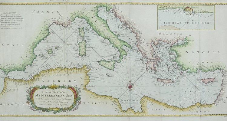 El mar Mediterráneo tiene algunos de los puertos marítimos más activos del mundo.