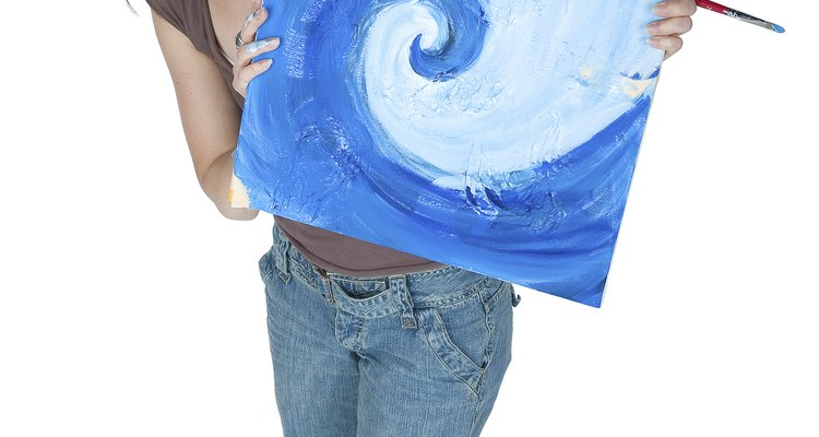 Painting on cardboard can save money.