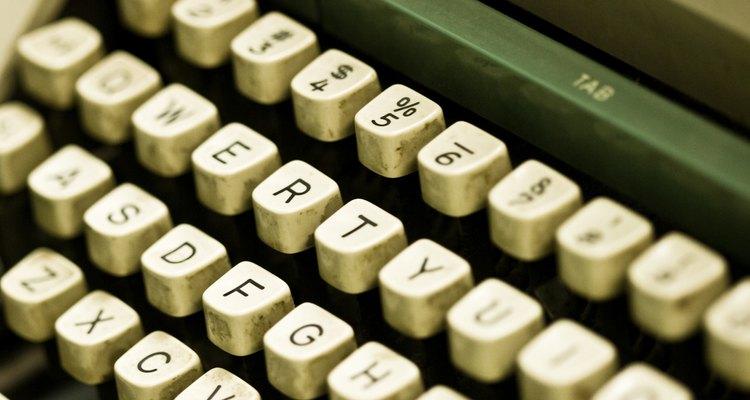 As fitas são uma parte essencial de máquinas de escrever