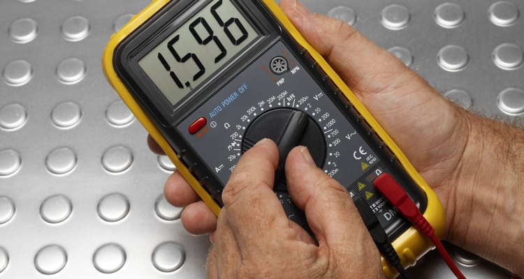 Use a digital multimeter to aid in finding battery capacity.