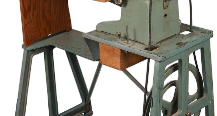 A treadle sewing machine similar to the Singer 201K.