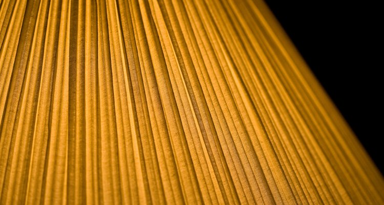 Pleated lampshades can collect dust and dirt.
