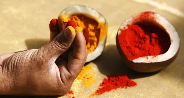 Tumeric can add colour to your hair as well as your food.