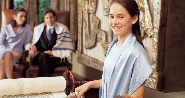 A Jewish girl becomes a bat mitzvah at age 12.