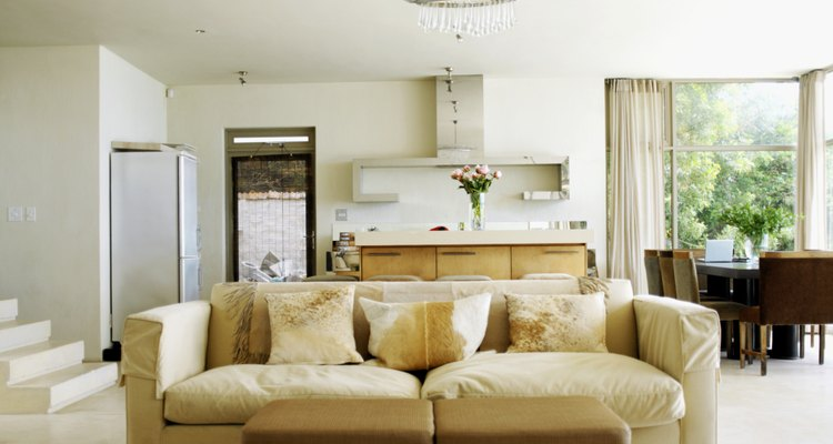 Use a couch to define an open layout.