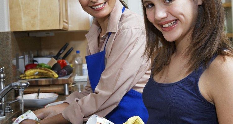 Las buenas toallas de cocina son absorbentes y fáciles de lavar.