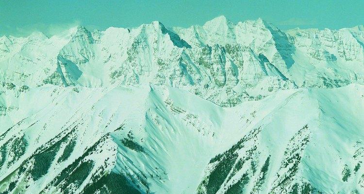 Cuando la nieve se derrite, deja ver verdes prados llenos de flores silvestres en las montañas rocosas.
