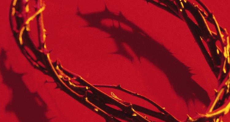 La corona de espinas obtiene su nombre de la suposición de que fue colocada sobre la cabeza de Jesús.