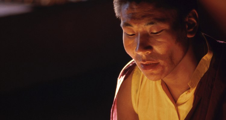 The traditional monk's robe goes back to Buddha's own time.