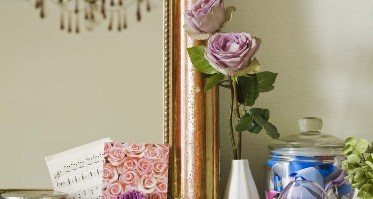 Dress up your mantle with all kinds of small decorative items.
