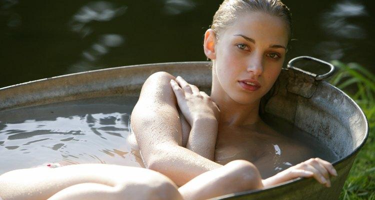 Mulher na banheira