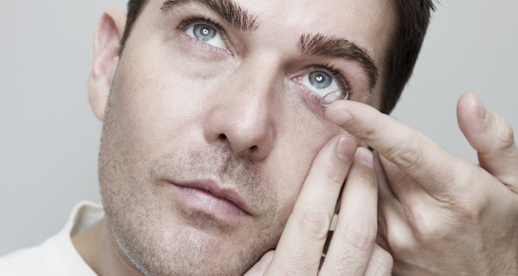 A poor fitting contact lens can badly damage the eye.