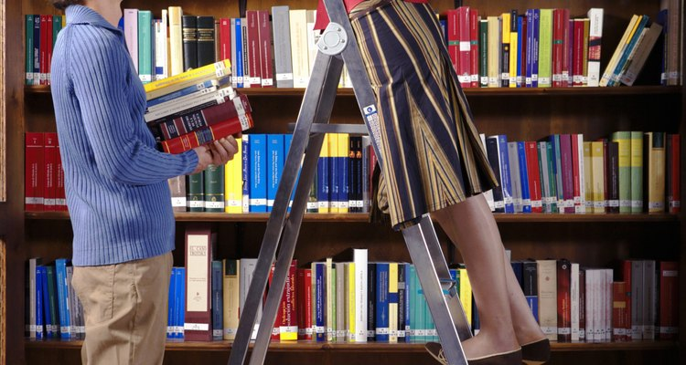 Turn a ladder from something you find books with into something you keep books on.