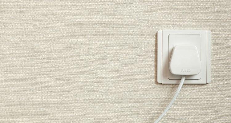 Standard 230-volt electrical socket.