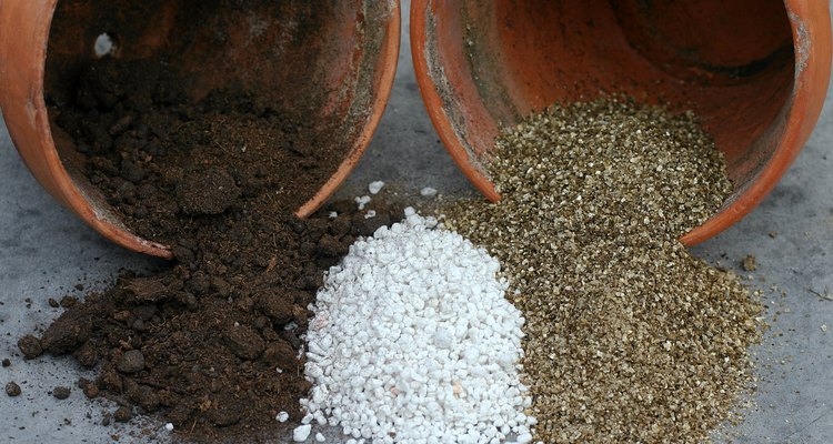 Be careful of vermiculite when mixing potting soil.