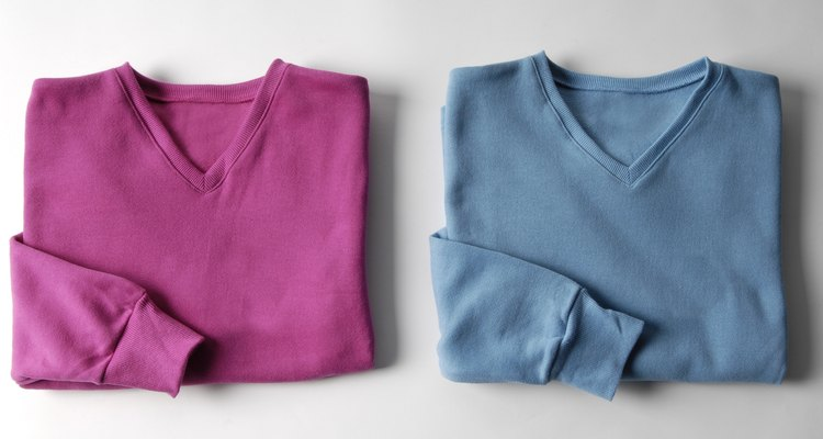 pink & blue folded sweaters