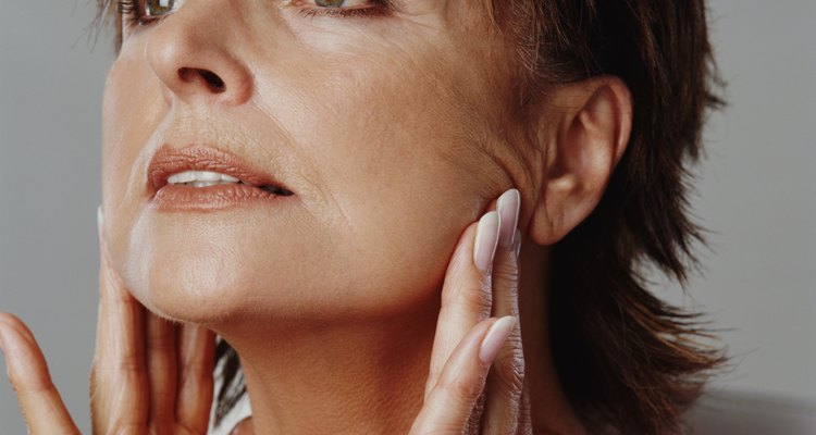 If your skin is ageing, a liquid foundation can help repair skin and cover flawlessly.