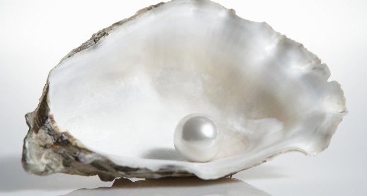 Las perlas se forman dentro de la concha de una ostra.
