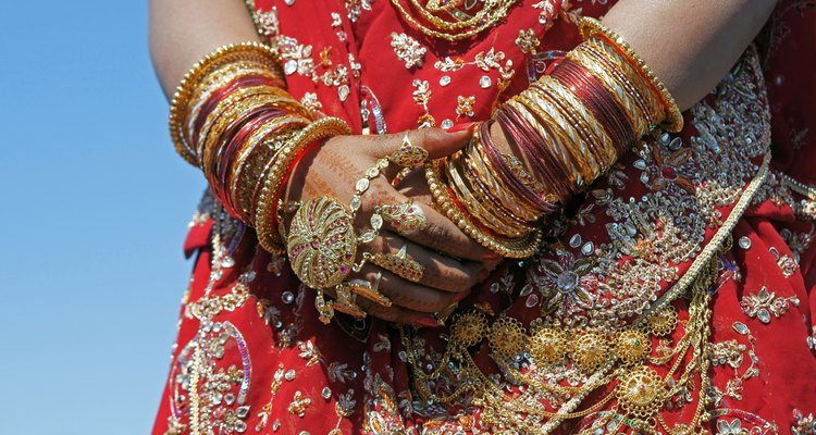 Decorated Hands Of Indian Bride