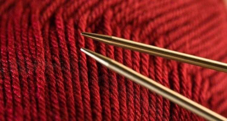 Knitting basic triangle shape involves a few small calculations.