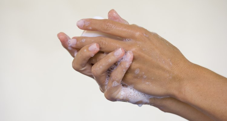 Hands lathering