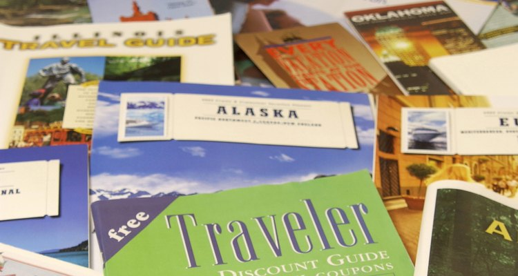 Brochures are used by most businesses in the travel industry to publicise their products.