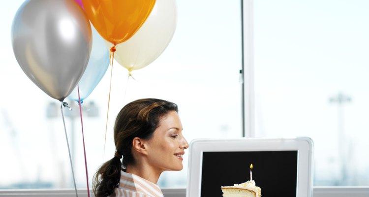 Faça algo super especial para comemorar o aniversário à distância