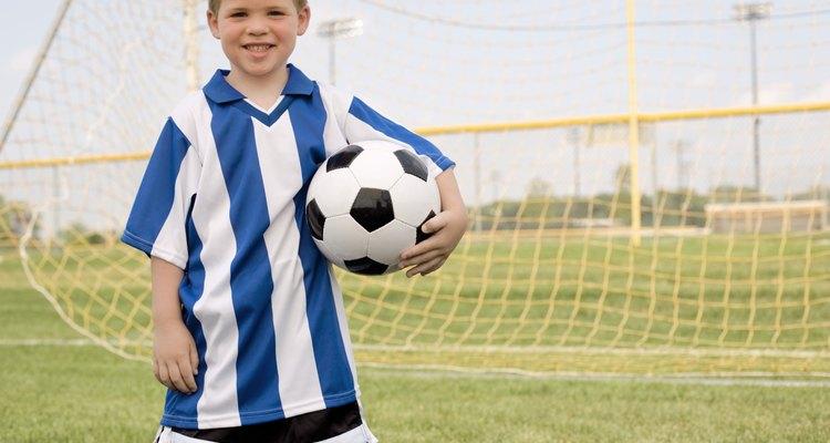As camisas de futebol sofrem durante uma partida