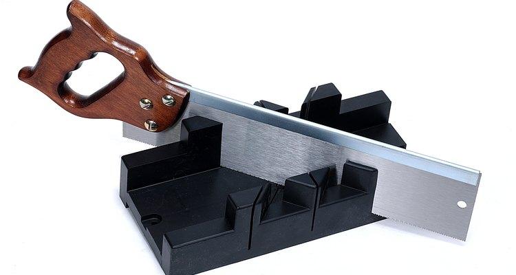 A mitre box makes professional saw cuts easy.
