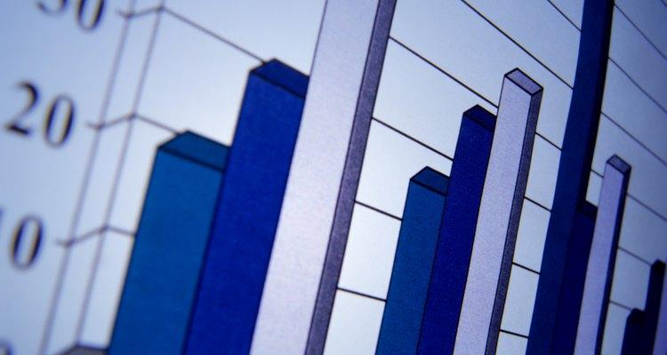 Os gráficos de barras utilizam colunas para representar os dados