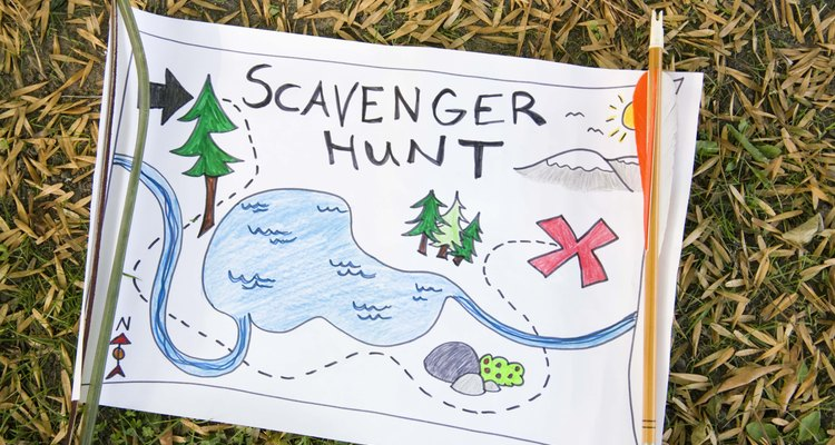 Scavenger hunts get everyone in a large group involved in the fun.