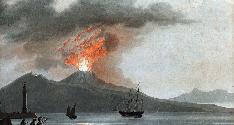 Erupción en el Monte Vesubio.