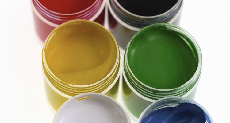Darkening green paint requires the help of a few different colours.