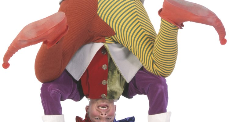 Jesters often balanced on their head while telling jokes.