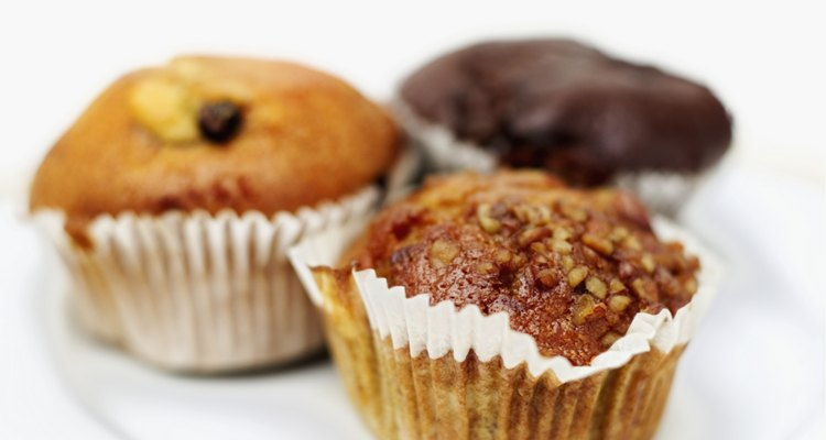 Close-up of assorted muffins on a plate