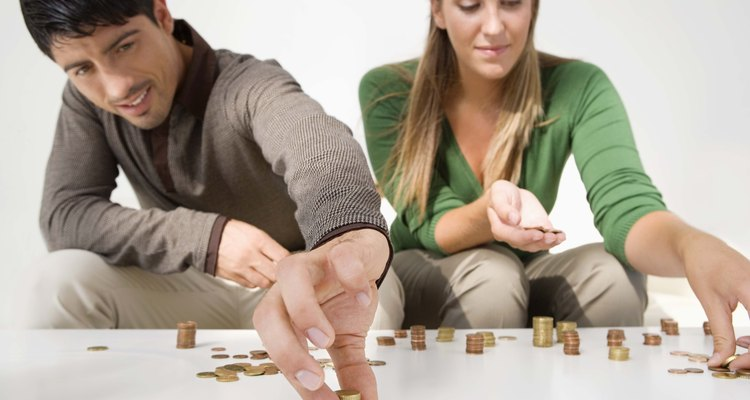 Couple counting coins