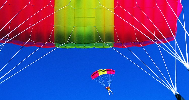 Many physical factors affect a parachute.