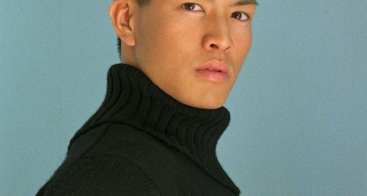 Suéter de cuello alto.