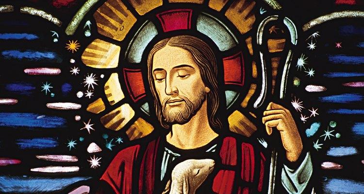 Vitral con la imagen de Jesús.