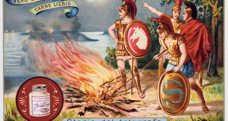 Para los Griegos, la lanza fue su arma más importante, mientras que la espada era estrictamente secundaria.
