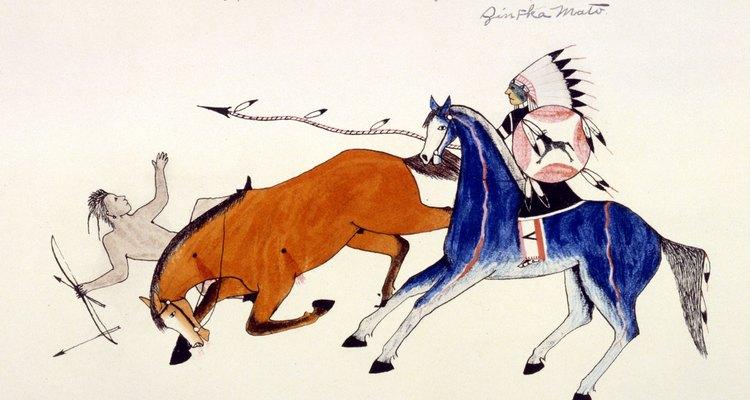 La visión de un artista sioux sobre la guerra de los indios de las planicies.