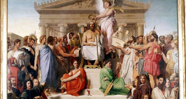 """A Apoteose de Homero"", do artista francês Jean-Auguste-Dominique-Ingres"