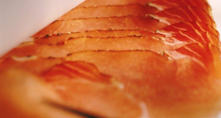 Reheat smoked salmon.
