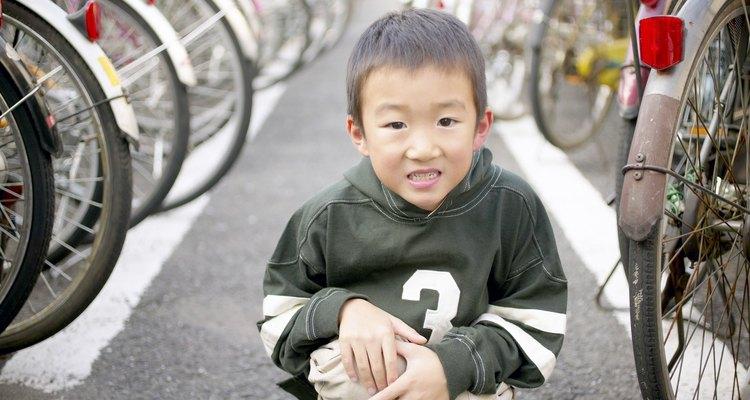 Desde pequeños los japoneses adoptan la posición de cuclillas.