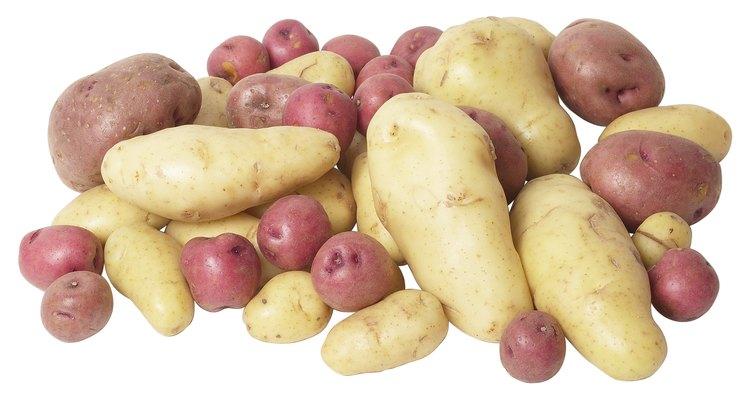 As batatas asterix e inglesa fornecem pequenas quantidades de vitamina A e K