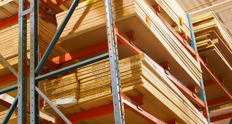 Home improvement stores often carry plywood siding in several patterns.