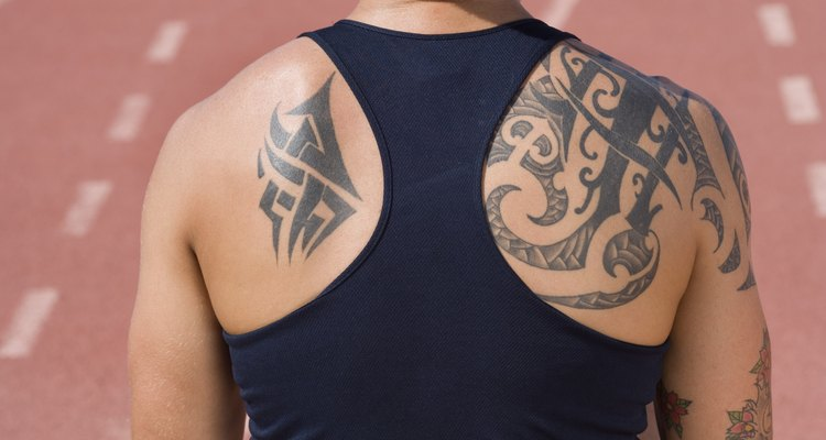 Both a flat magnum shader and a round magnum shader were used to create this tattoo.