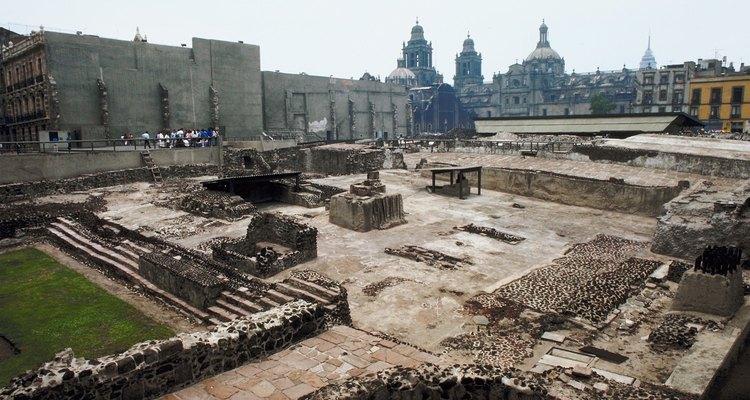 La ciudad de México fue construida sobre las ruinas de Tenochtitlán.